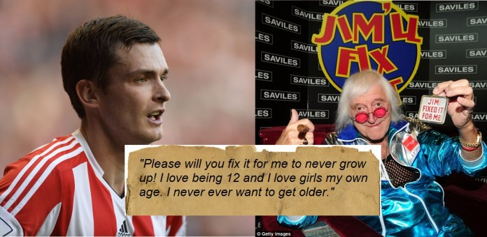 Read: Adam Johnson's letter to Jimmy Saville