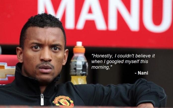Even Nani Shocked By Rumours Of Man Utd Return