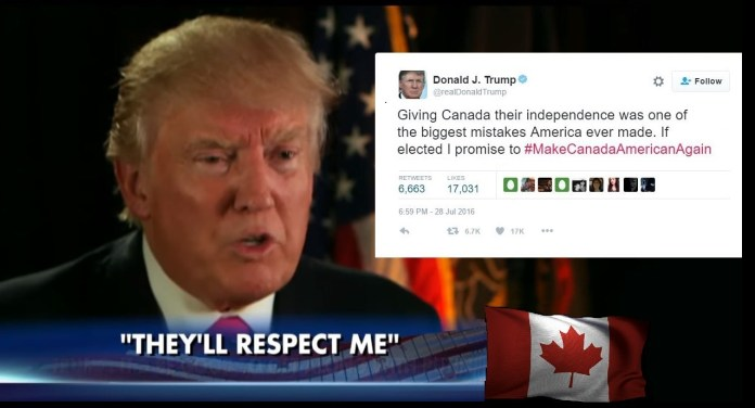 Trump Claims America Should Never Have Given Canada Its Independence