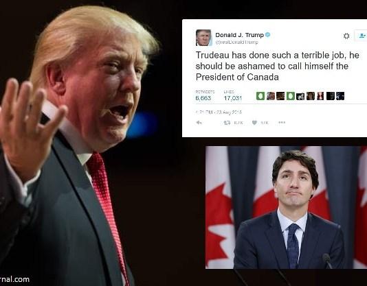 "Trump Calls Justin Trudeau ""Canada's Worst President Yet"" | Trudeau Trump"
