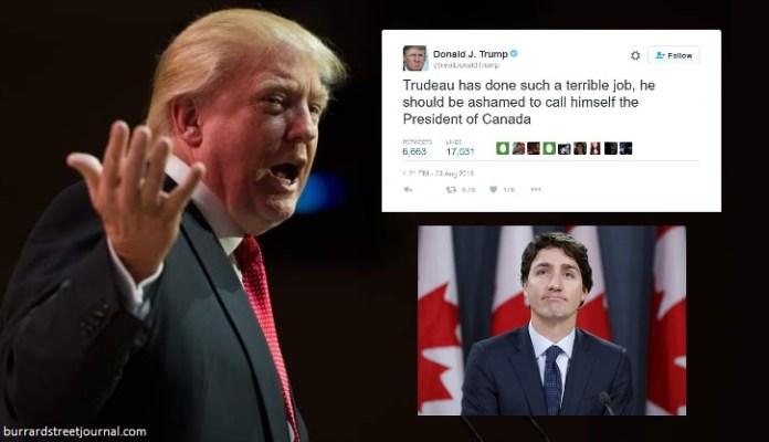 Trump Calls Justin Trudeau
