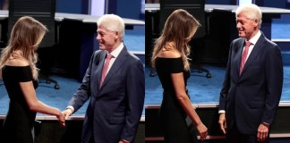 Bill Clinton Melania Trump at first 2016 debate