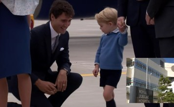"""BREAKING NEWS: Prince George Justin Trudeau """"collision"""" hospitalizes toddler"""