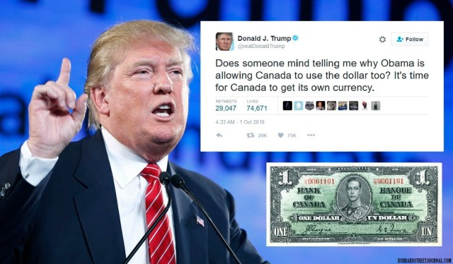 Trump Blames Canada For Bad U.S. Economy, Demands 'They Get Their Own Currency' | Obama moving to Canada