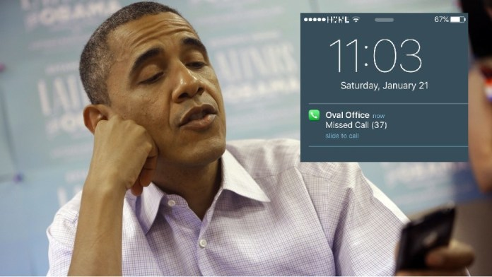 37 missed phone calls on Obama's first day as citizen again