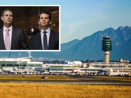 Trump sons detained at YVR Airport, Vancouver