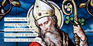 St Patrick Wondering 'Who The Hell This Patty Bitch Is And Why's She Stealing My Day'