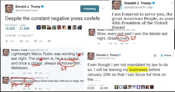 Trump Denounces Grammar Nazis