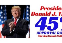 Donald Trump's Approval Rating Rises Above IQ For First Time