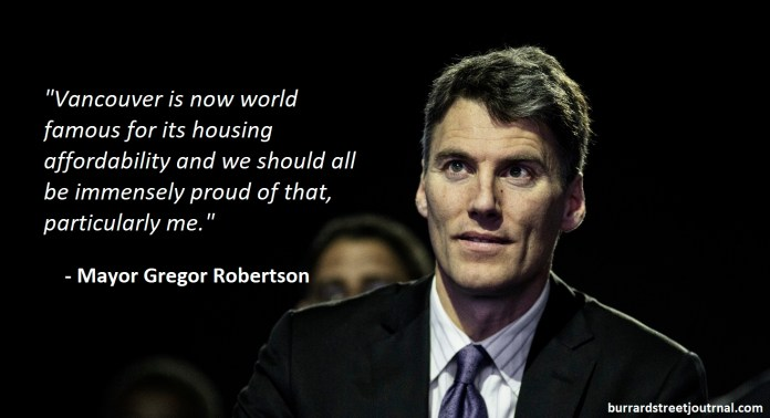 Mayor Robertson 'Proud' To Have Fulfilled Promises To End Housing Affordability And Increase Homelessness