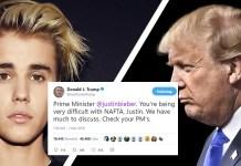 Trump Tweets Nafta Criticisms To 'Prime Minister' Justin Bieber | Trump Bieber
