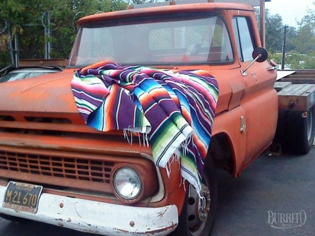 Mexican Blanket Decke Hot Rod
