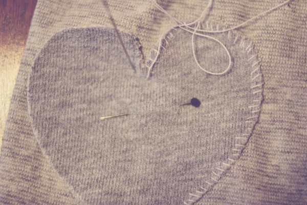 DIY heart elbow patches – Burritos and Bubbly