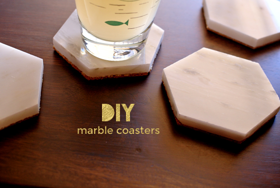 DIY marble coasters, from Burritos & Bubbly
