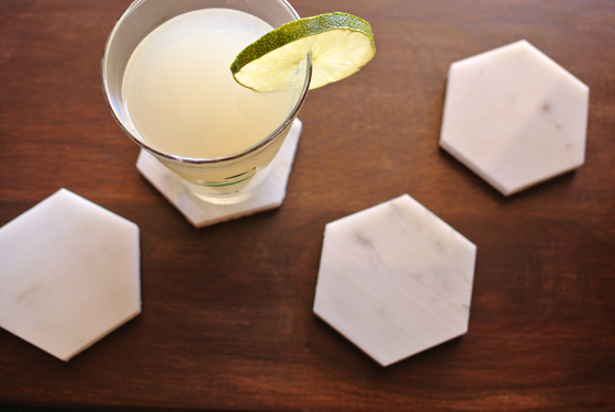 marble coaster DIY from Burritos & Bubbly