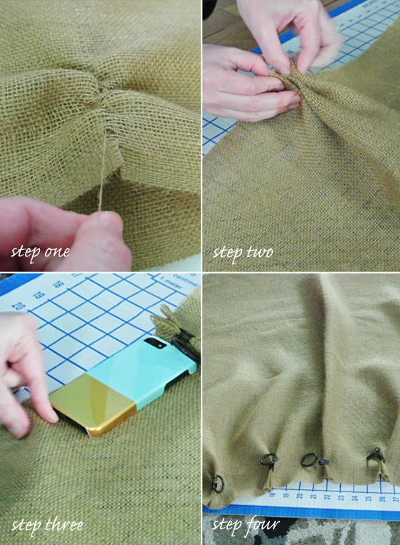how to make easy no-sew burlap curtains, BurritosandBubbly.com