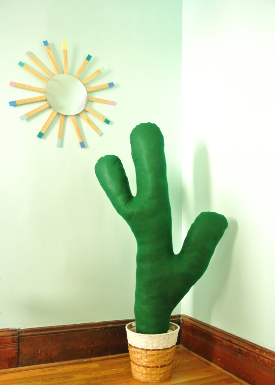 Make your own fabric cactus, from Burritos and Bubbly