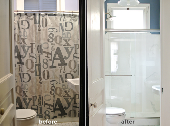 guest bathroom before and after