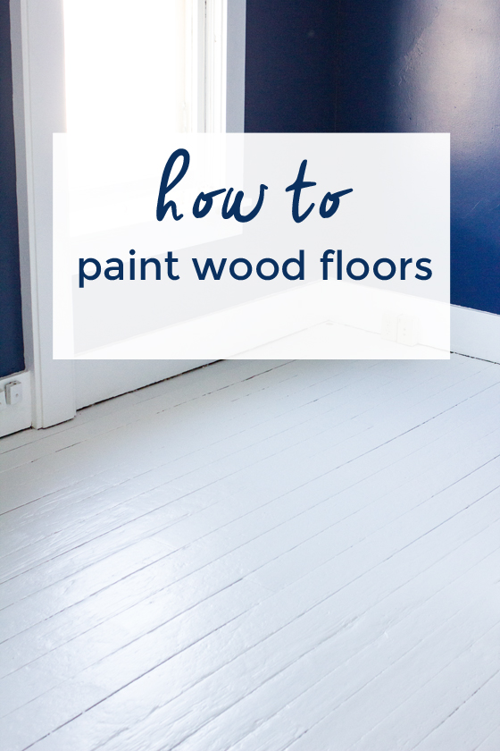how to paint wood floors | Burritos and Bubbly