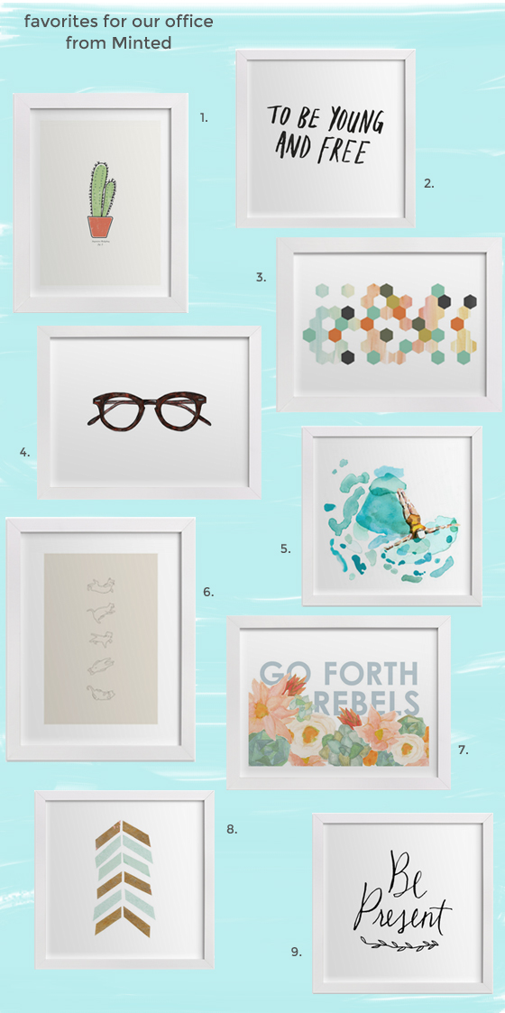 decorating our office with favorites from Minted.com |