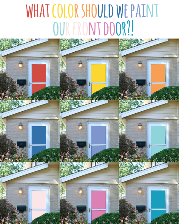 Fun colors for a front door! (via Burritos and Bubbly)