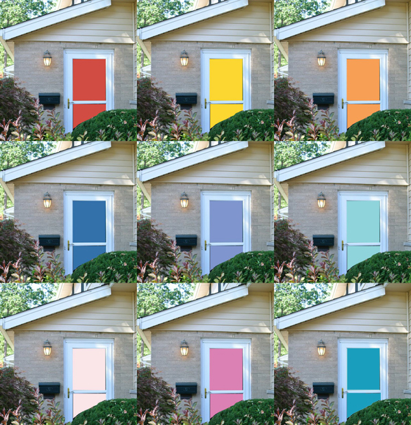 fun front door colors