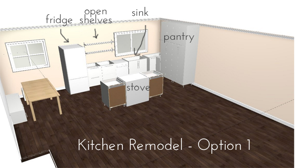 kitchen remodel plans - option 1