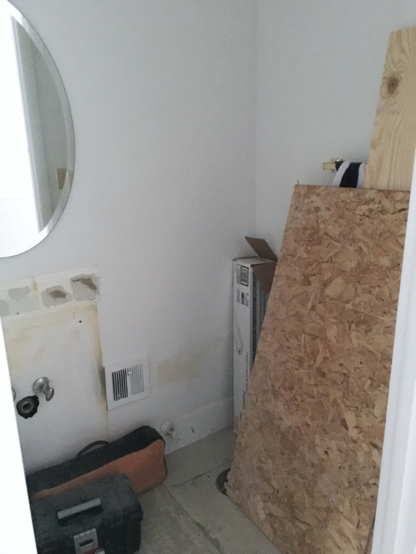 bathroom reno progress report