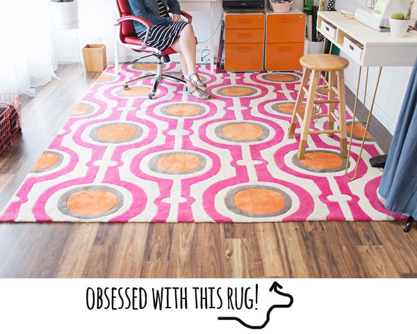 I'm obsessed with this rug on A Beautiful Mess