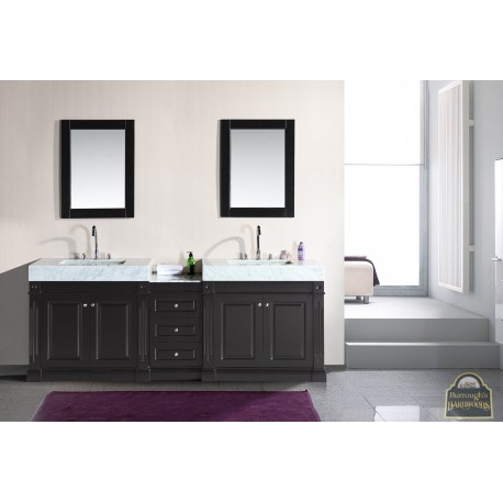odyssey 88 double sink vanity set with trough style sinks burroughs hardwoods online store