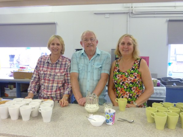 Marion/Eddie & Debbie, always ready with a welcoming cup of tea