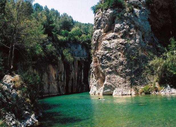 Baño en Montanejos