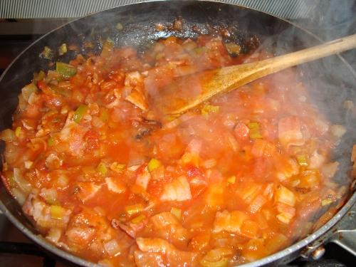 Agregar salsa de tomate