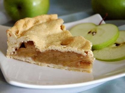 Tarta rellena de manzana