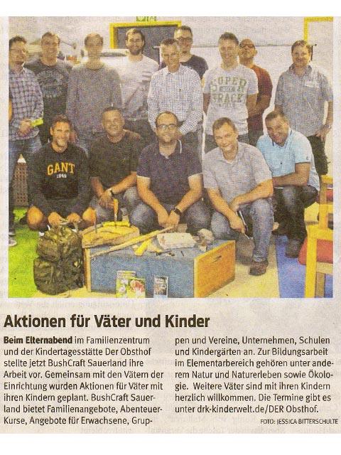 BushCRAFT Sauerland Westfalenpost 2018