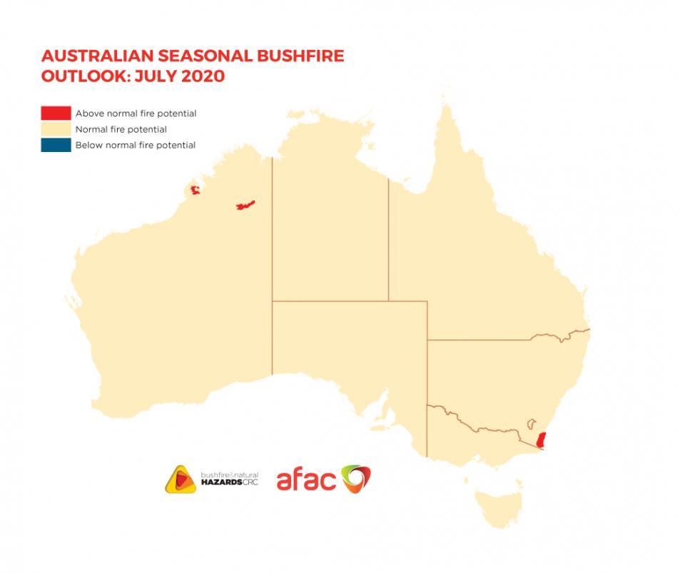 Hazard Note 75 - Australian Seasonal Bushfire Outlook: July 2020