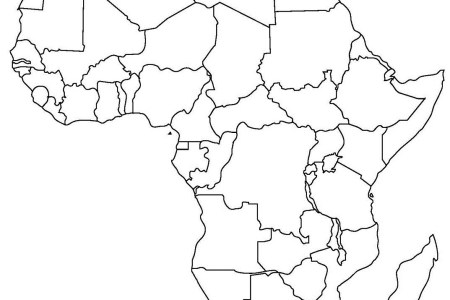africa political map without names » Full HD MAPS Locations ...
