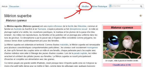 comment modifier les descriptions sur wikipedia