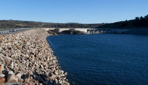 The Jindabyne Dam which is part of the Snowy Mountains Scheme