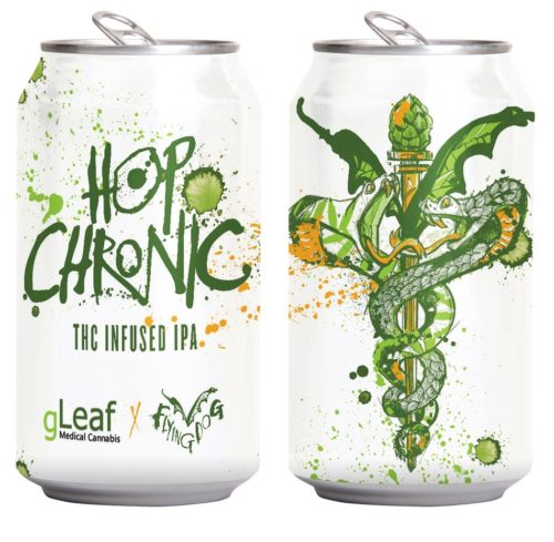 Hop Chronic, brewed by Flying Dog in partnership with Green Leaf Medical, will be Maryland's first THC-infused beer and is slated to be released this year. Photo courtesy of Flying Dog Brewery