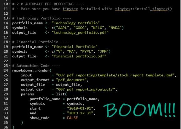 Create PDF Report