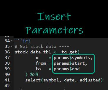 Insert Rmarkdown Parameters