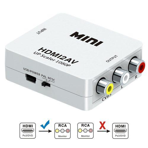 3Csmar HDMI to RCA Converter - HDMI to RCA Converter