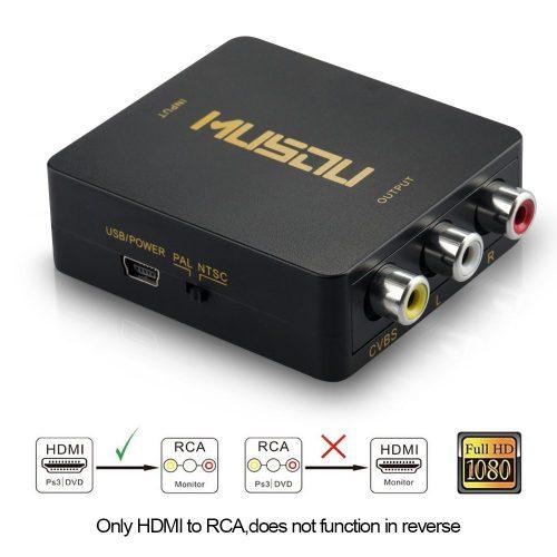 The MUSOU 1080P HDMI to RCA Converter - HDMI to RCA Converter