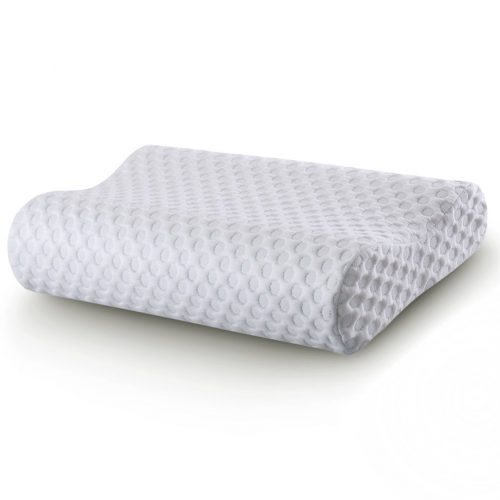 Cr Sleep Memory Foam Contour Pillow for Neck Pain, Gel-infused Technology, Standard -