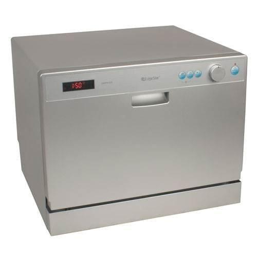 EdgeStar DWP61ES 6 Place Setting Countertop Portable Dishwasher – Silver - Countertop Dishwasher