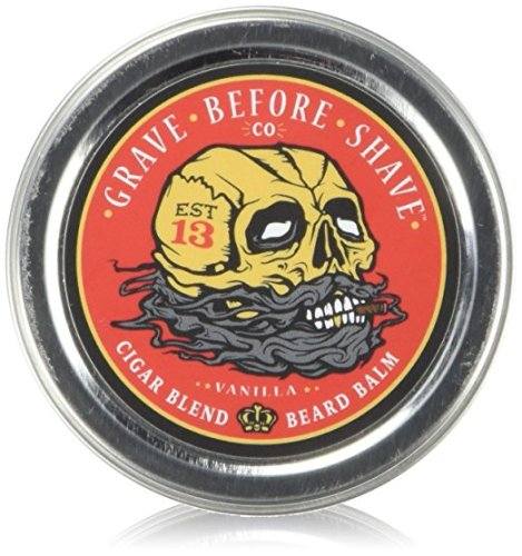 GRAVE BEFORE SHAVE Cigar Blend Beard Balm (Cigar/Vanilla scent) (2 oz.) - Beard Balm