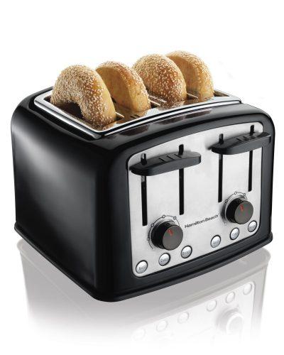 Hamilton Beach Smart Toast Extra-Wide 4-Slice Slot Toaster (24444) - Slice Toaster