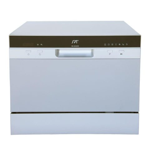 SPT SD-2224DS Countertop Dishwasher with Delay Start & LED, Silver - Countertop Dishwasher
