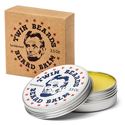 Twin Beards Beard Balm 3.5 oz Sandalwood Scented - Beard Balm
